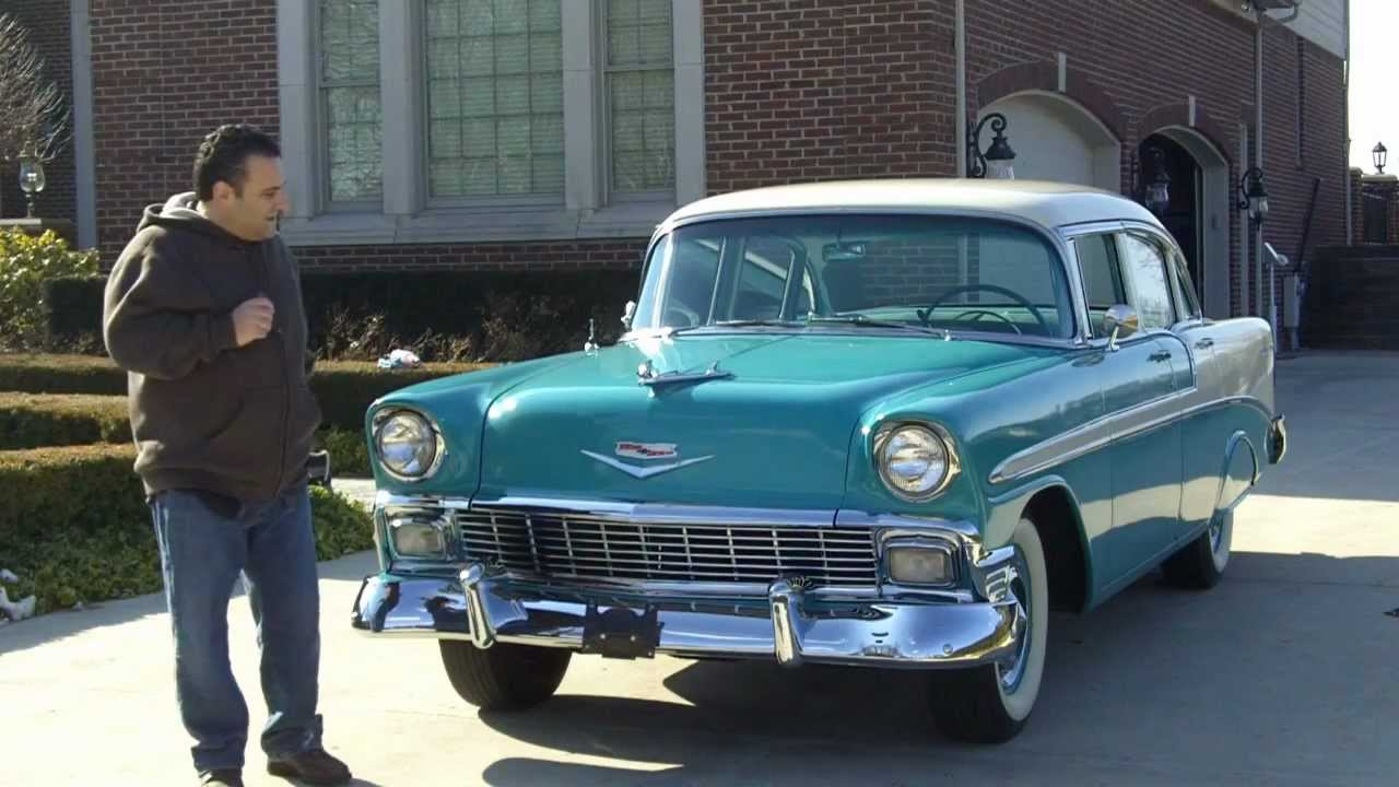 1956 Chevy Bel Air 4 Door Classic Muscle Car for Sale in MI Vanguard     1956 Chevy Bel Air 4 Door Classic Muscle Car for Sale in MI Vanguard Motor  Sales   YouTube