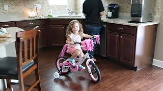 I'M RIDING A BIKE IN THE HOUSE