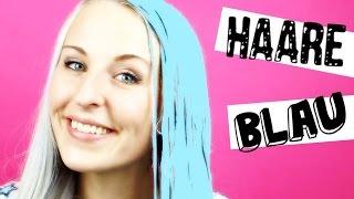 spontan Haare Blau färben | Multicolor | Pastell & Ice Blau | DIY #Bonnytrash