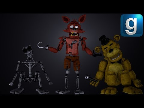 Gmod FNAF | Rebuilding The FNAF 1 Animatronics With Spare Parts [Part 2]
