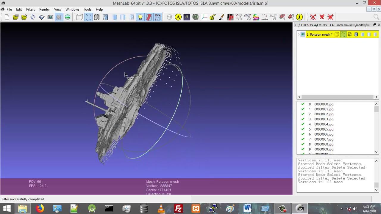 005 VisualSFM Fotos_Drone Parte II MeshLab