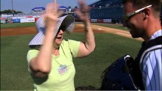 Soldier surprises parents at minor league baseball game