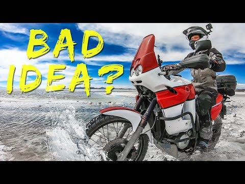 SALT WATER Almost DESTROYED our MOTORCYCLES - Ducati Multistrada & Transalp - ep49