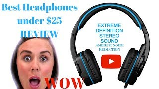 Best noise cancelling headphones under $25! Gaming, PC, cellular phone, tablet, skype, call center!