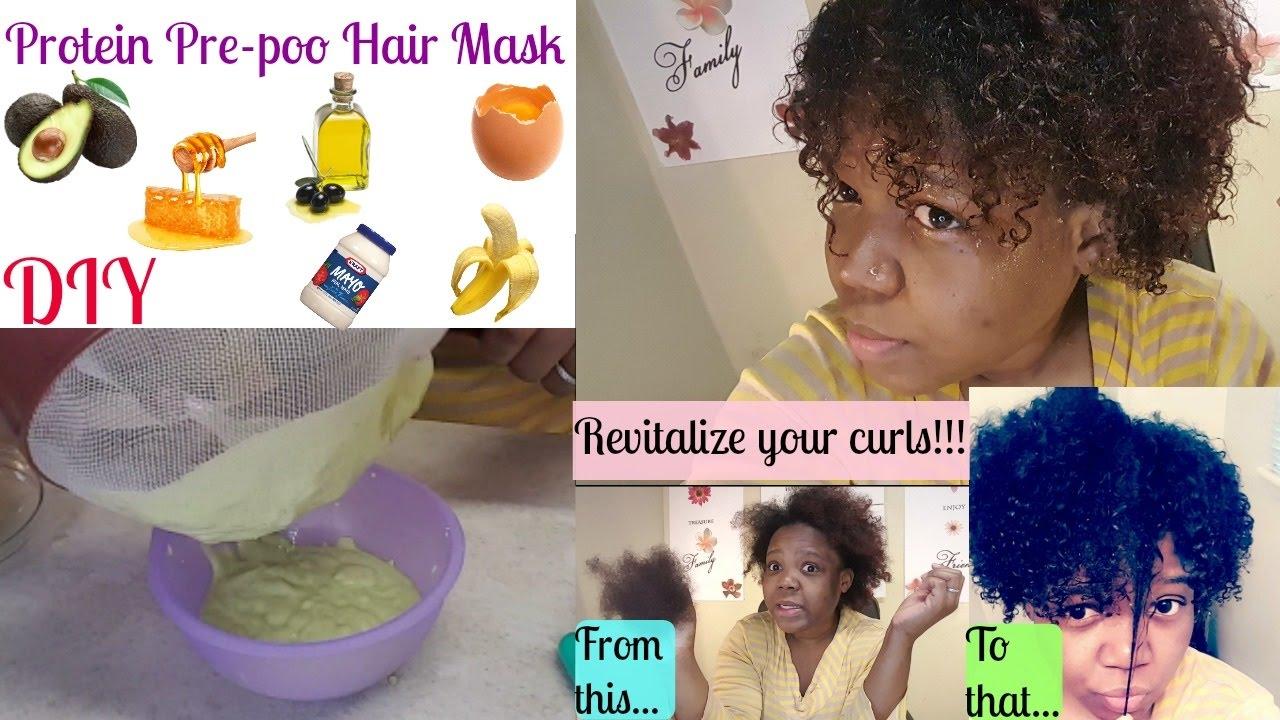 Diy Pre Poo Mask Avocado Banana Egg Honey Olive Oil Curls