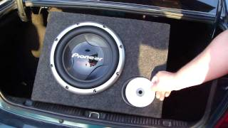 SD400 + Pioneer 308 d2 Bass I Love you