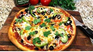 Пицца рецепт Тонкое тесто для домашней пиццы в духовке с мягкими корочками
