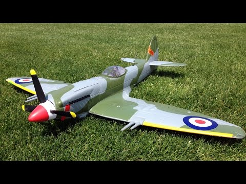 RC Plane Crash - HobbyKing Durafly MK-24 Spitfire WWII Warbird Explodes on Impact!