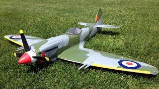 RC Plane Crash - HobbyKing Durafly MK-24 Spitfire WWII Warbird Explodes on Impact!