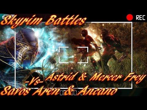 Skyrim Battles - Astrid & Mercer Frey vs Savos Aren & Ancano [Legendary Settings]