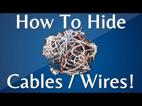 How to Hide Cables, Wires, And Cords: Internet and TV