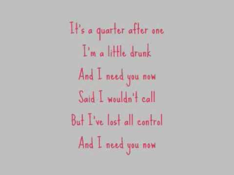 Lady Antebellum - Need You Now (Lyrics On Screen)