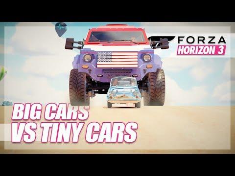 Forza Horizon 3 - Biggest Cars vs Smallest Cars! thumbnail