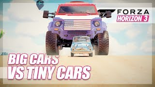 Forza Horizon 3 - Biggest Cars vs Smallest Cars!