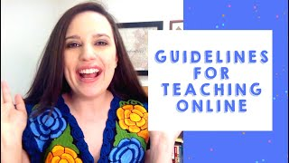 General Requirements for Teaching Online