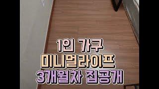 1인가구 미니멀라이프 3개월차 집공개