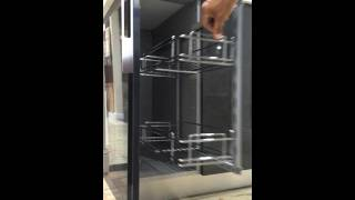 Soft Close Spice Rack- In-cabinet Pull Out 2 Shelves 8 Wide