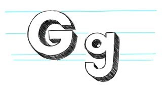 How to Draw 3D Letters G - Uppercase G and Lowercase g in 90 seconds