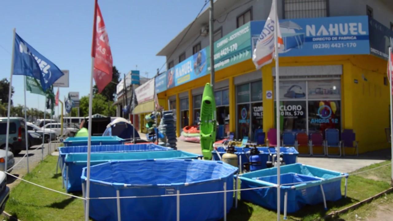 Piletas nahuel piletas de lona camping y playa youtube for Piletas cuadradas de lona