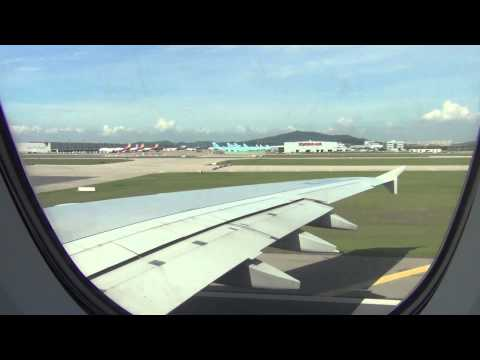 Korean Air A380 (HL7613) Taxi and Takeoff:  Seoul (ICN) to Los Angeles (LAX) KE17