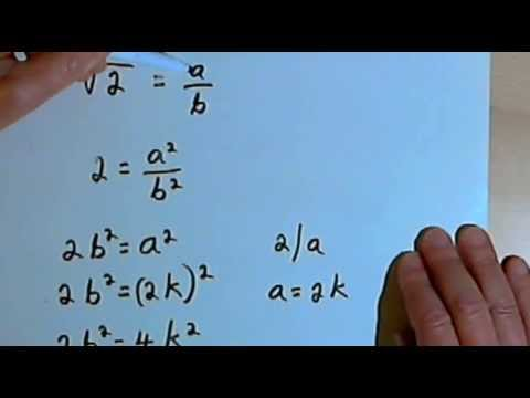 Proof that the Square Root of 2 is Irrational 127-4.21 - YouTube