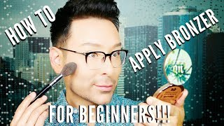 HOW TO APPLY BRONZER for BEGINNERS | mathias4makeup