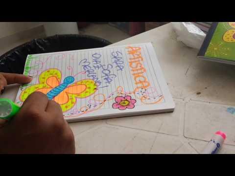 Cómo marcar cuaderno de religión fácil y lindo Para niña
