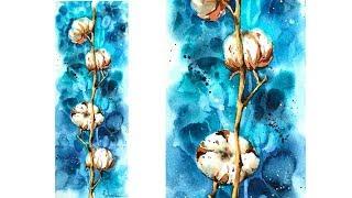 """Видео урок рисования акварелью """"Хлопок акварелью"""" от Анны Петуновой  (ТРЕЙЛЕР)"""
