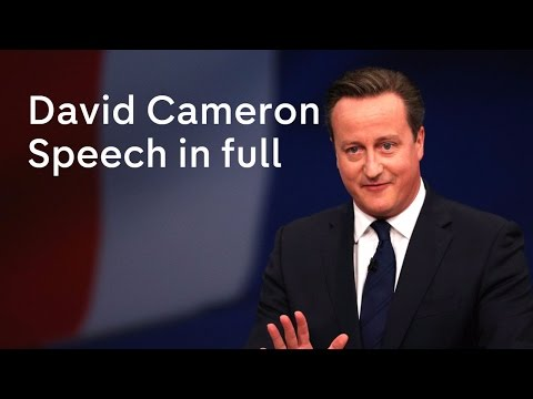 David Cameron speech at Conservative Party Conference - YouTube