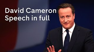 David Cameron speech at Conservative Party Conference