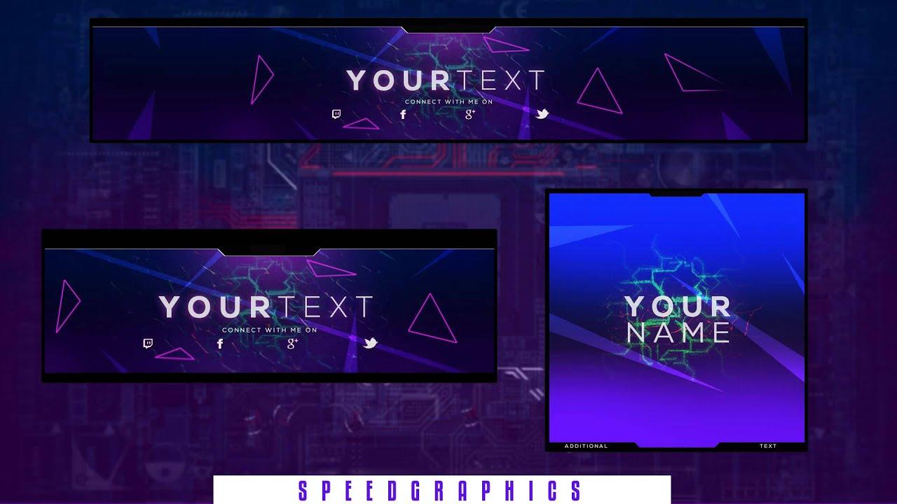 free gfx gaming rebrand template v6 banner avatar twitter header
