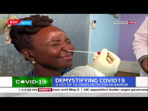 HOW THE COVID-19 TEST IS DONE: Dr Mercy Korir gets tested for coronavirus on live TV
