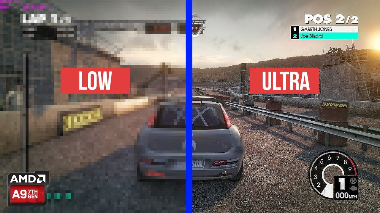 Dirt 3 On Amd A9 9420 Graphic Comparison Low Spec Youtube