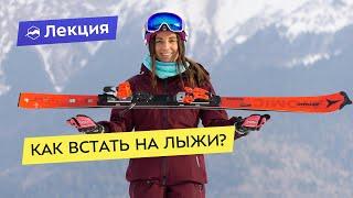 Как встать на лыжи Советы для начинающих лыжников Рассказываем как кататься на лыжах