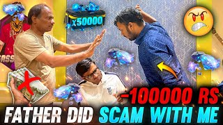 My Father & Brother Scam With Me 100000 Diamonds Topup In My Id With My Money 😱 - Garena Free Fire