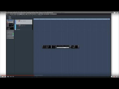 Cubase LE AI Elements 8 – Quick Start Video Tutorials – Basic Recording