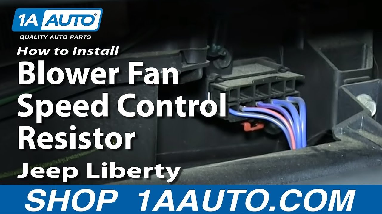 How To Install Replace Blower Fan Speed Control Resistor 2002 07 Jeep Wrangler Heater Wiring Diagram Youtube Premium