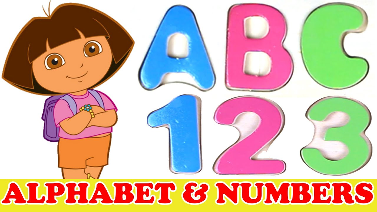 Learn Alphabet and Numbers with Dora the Explorer - YouTube