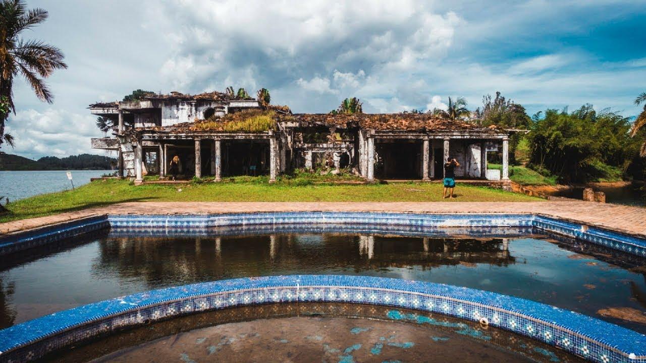 Pablo Escobars Guatape House Tour La Manuela Ruins | Piedra del Peñol  [SUBTITULADO EN ESPAÑOL] - YouTube