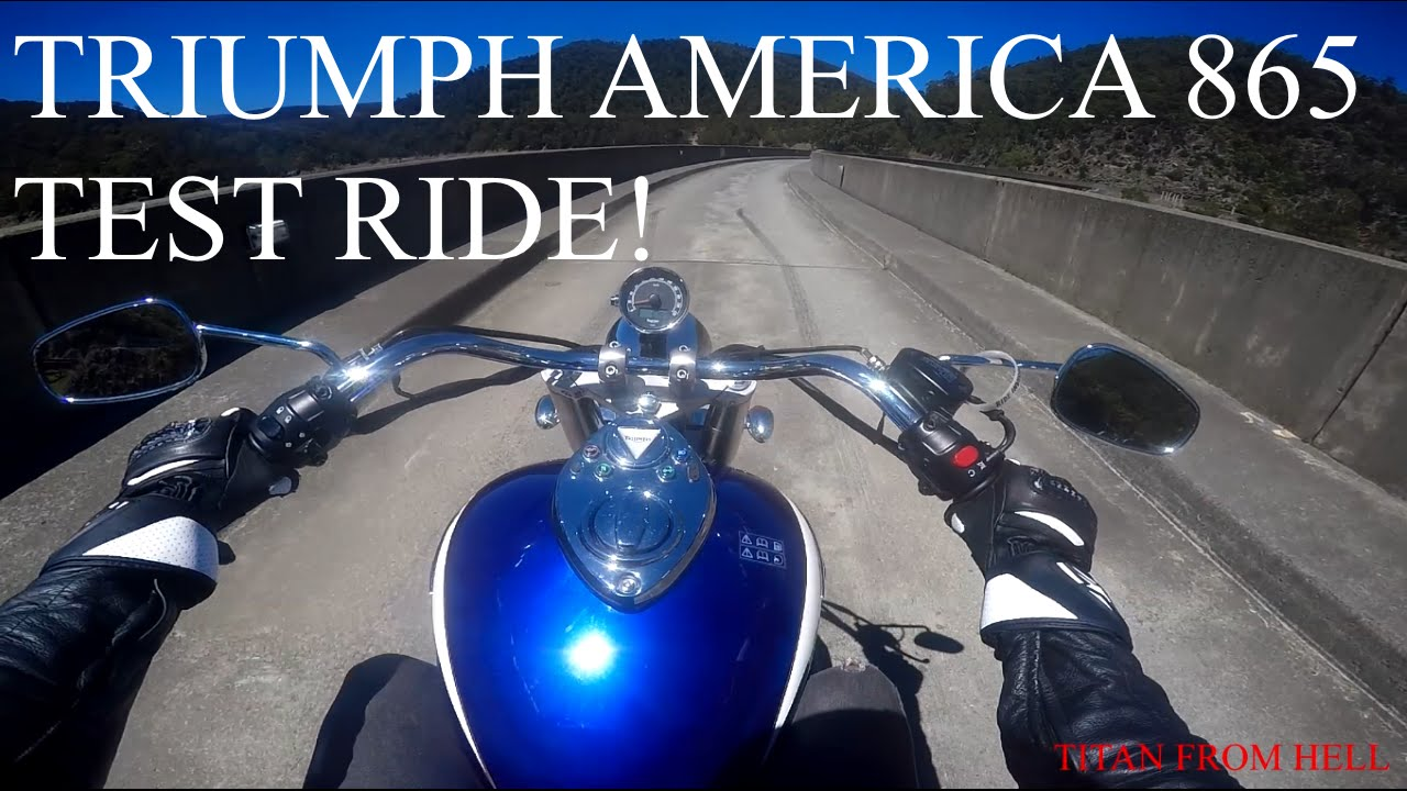 riding 02bigkevs triumph america 865! my first time on a cruiser