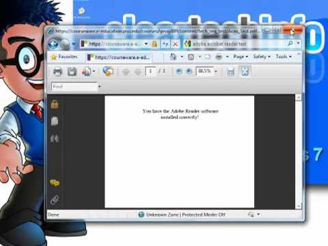 Windows 7, How-To Download,  Install And Test The Adobe Acrobat Reader