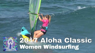 Women Windsurfing Hookipa at the 2017 Aloha Classic