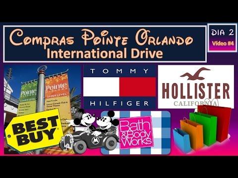 VLOG VIAGEM DISNEY 2015 #5  Compras Pointe Orlando e Best Buy - Tommy, Hollister, Bath & Body Works