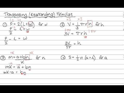 Transposing Formulae