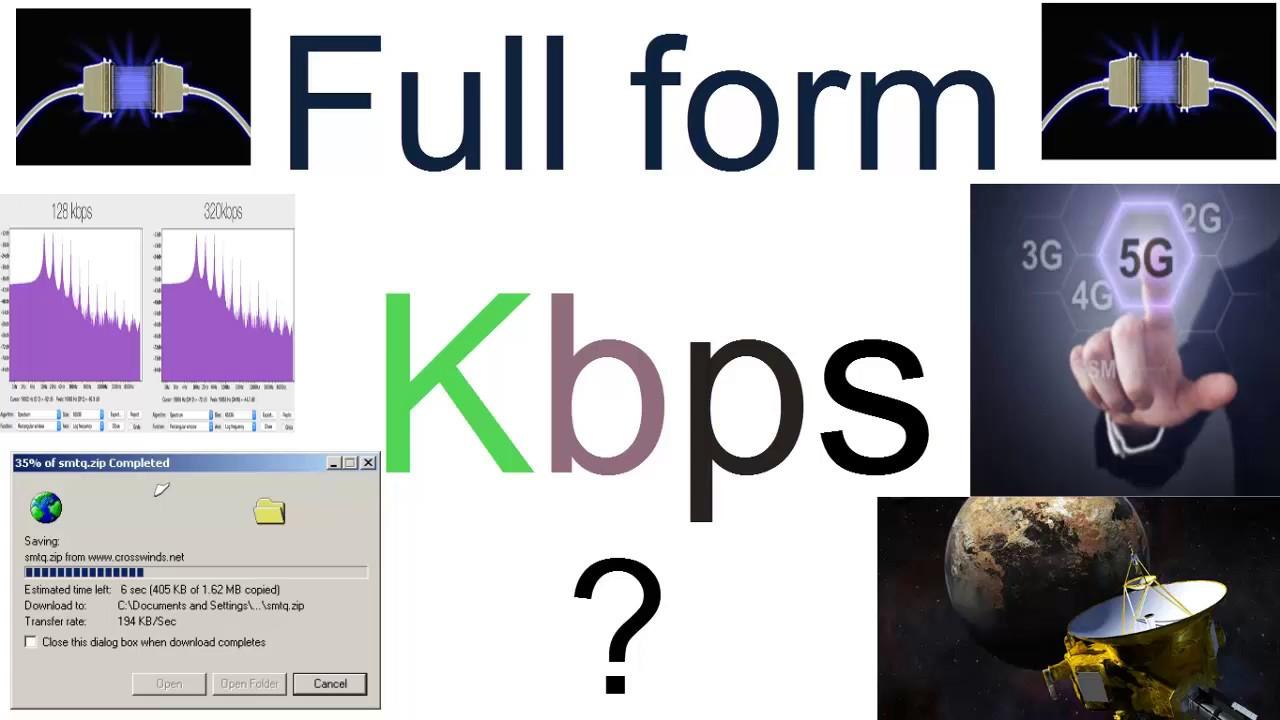 Full Form of Kbps in Data Rate Unit ? - YouTube