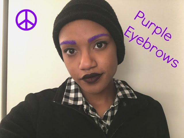 Purple Eyebrows Tutorial   paixout