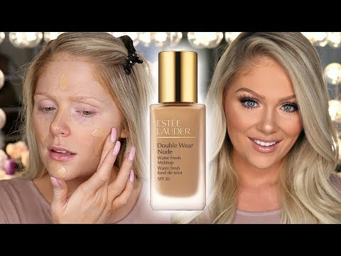 NEW ESTEE LAUDER DOUBLE WEAR NUDE FOUNDATION?! FIRST IMPRESSIONS REVIEW + DEMO