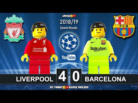 Liverpool vs Barcelona 4-0 • Champions League 2019 (07/05/2019) • All Goals Highlights LEGO Football - 동영상