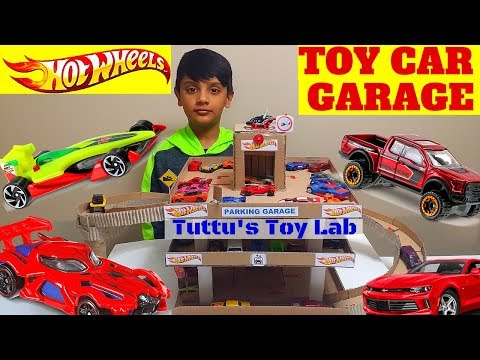 Toy car Garage | play set with lift and ramp|Hot wheels garage DIY| [how to build a toy car garage]