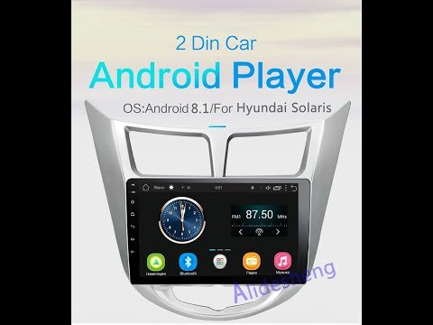 Магнитола мультимедийное с GPS Android для Hyundai Solaris C Aliexpress